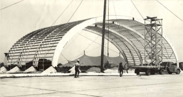 The Browning Hangar in 1943